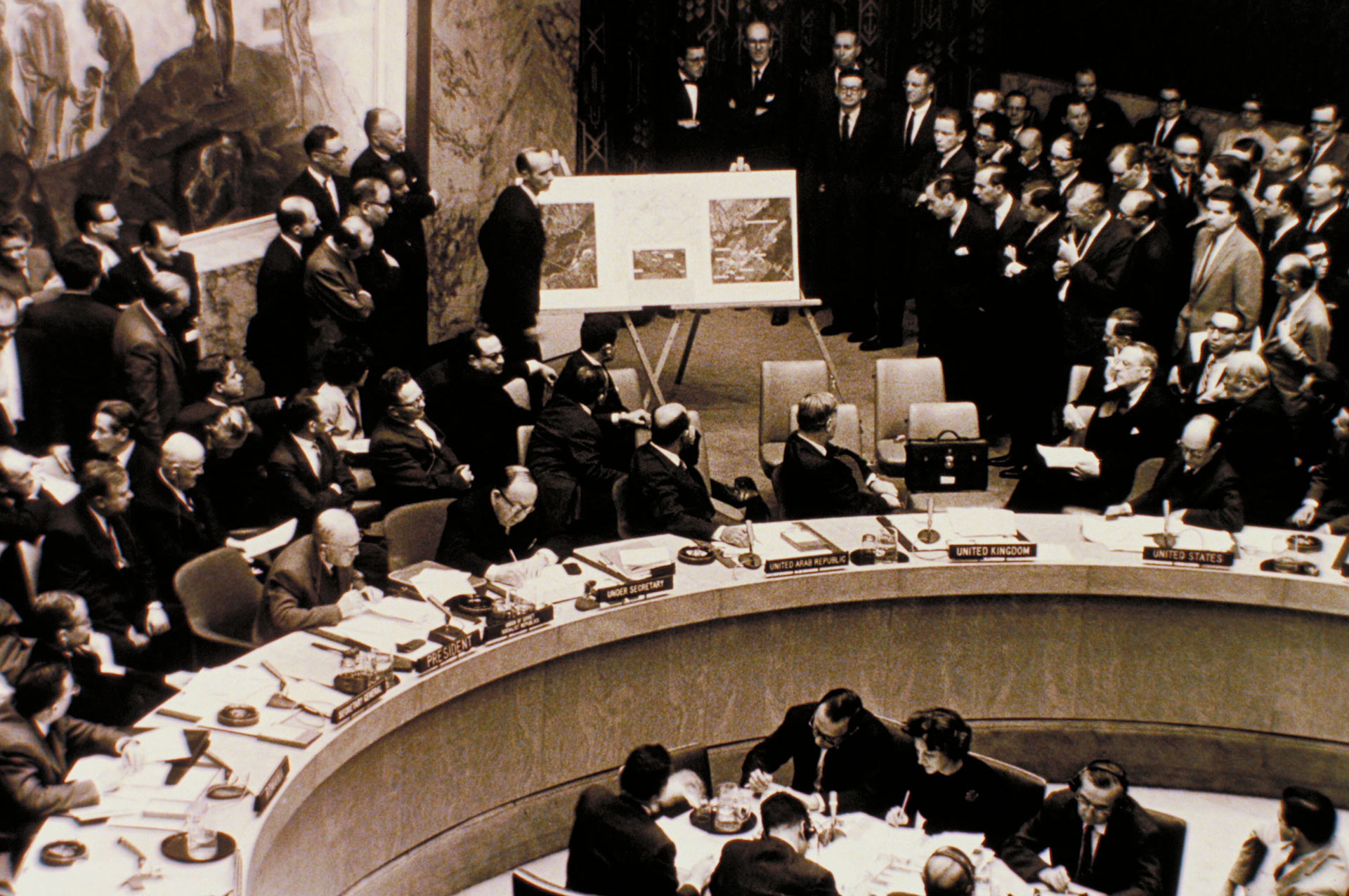 United Nations meeting on the Cuban Missile Crisis