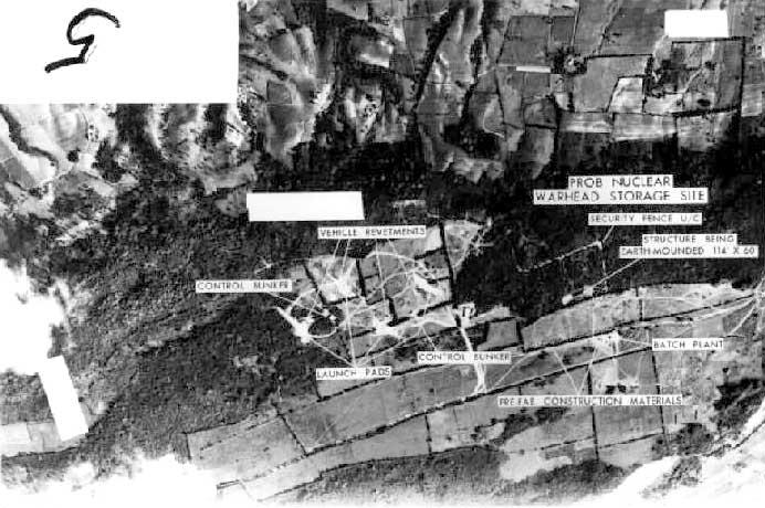 Cuban Missile Crisis reconnaissance photo